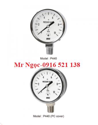 Đồng hồ áp suất thấp Wise Model P440