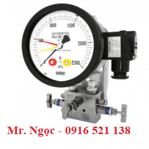 Đồng hồ chênh áp có tiếp điểm điện P680