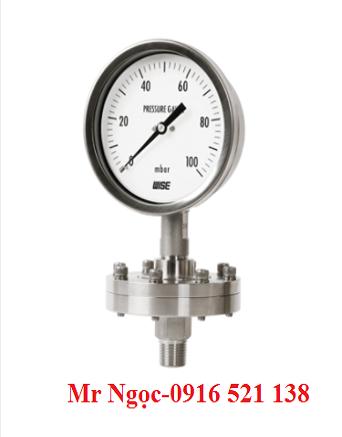 Đồng hồ áp suất thấp Wise dạng màng Model P428 P429