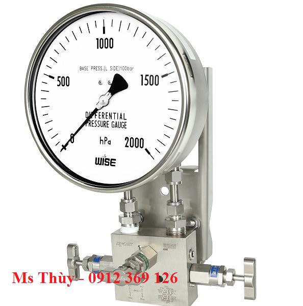 Đồng hồ chênh áp dạng màng P661, P662