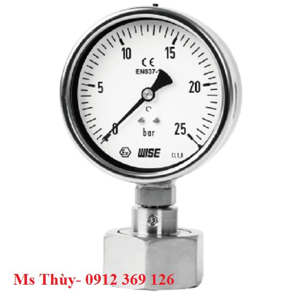 Đồng hồ áp suất màng Nut P751 -  Wise Hàn Quốc