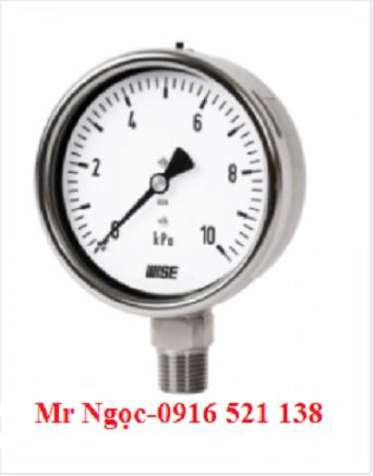 Đồng hồ áp suất thấp Wise Model P422