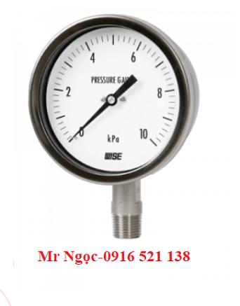 Đồng hồ áp suất thấp Wise Model P421