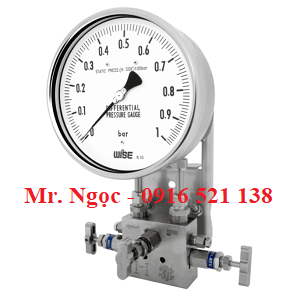 Đồng hồ áp suất chênh áp wise P670 series (P671, P672, P673)