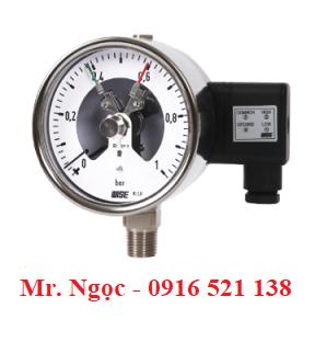 Đồng hồ áp suất tiếp điểm điện Model P520