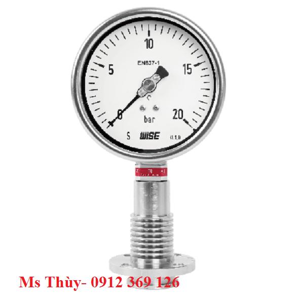 Đồng hồ áp suất màng Model P754 wise