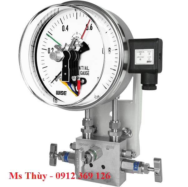 Đồng hồ chênh áp có tiếp điểm điện P690