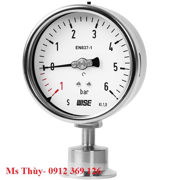 Đồng hồ áp suất màng clamp Wise P752