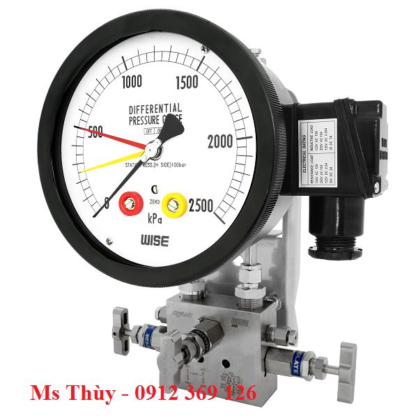 Đồng hồ chênh áp có tiếp điểm điện P681, P682